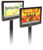 digital signage in queue