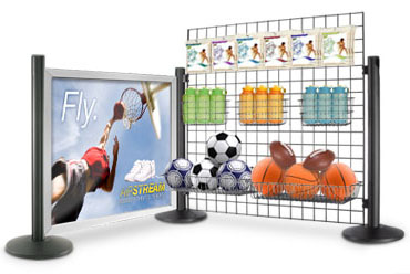 merchandising panels and displays